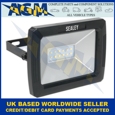 Sealey LED080, SMD LED, 10W, Floodlight With Wall Bracket, 230v