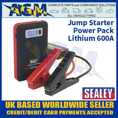 Sealey SL65S 12V Jump Starter Power Pack Lithium 600A, Jump Starter