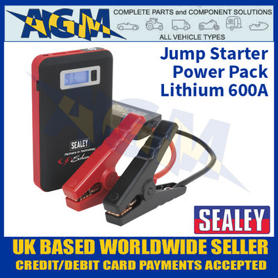 Sealey SL65S 12V Jump Starter Power Pack Lithium 600A, Jump Starter