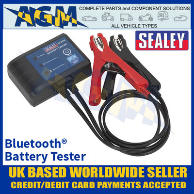 Sealey BT3000 Bluetooth® Battery Tester, Test Auto, Motorcycle, Marine & Leisure Batteries