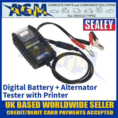 Sealey BT2014 Professional Digital Battery & Alternator Tester with Printer