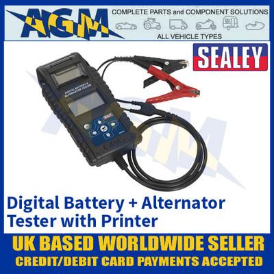 Sealey BT2015 Professional Digital Battery & Alternator Tester with Printer
