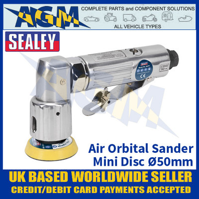 Sealey SA70 Air Orbital Sander Mini Disc Ø50mm - Air Tools - Air Sander