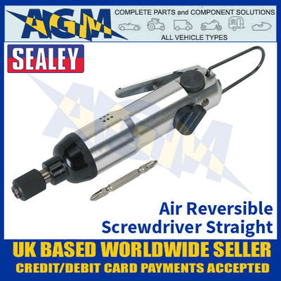 Sealey SA57 Air Reversible Screwdriver Straight - Air Tools - Screwdriver