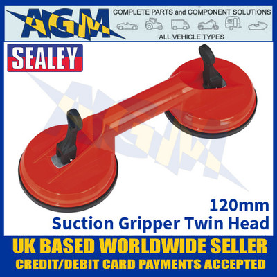 Sealey AK9892 Suction Gripper Twin Head 120mm - Suction Gripper