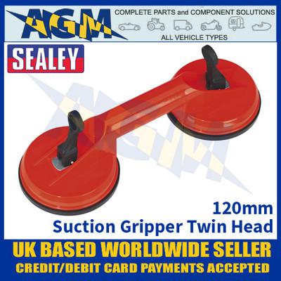 Sealey AK9892 Suction Gripper Twin Head 120mm - Suction Gripper