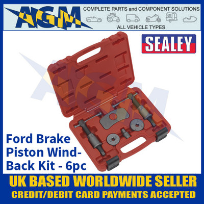 Sealey VS0289 Brake Piston Wind-Back Kit 6pc Ford