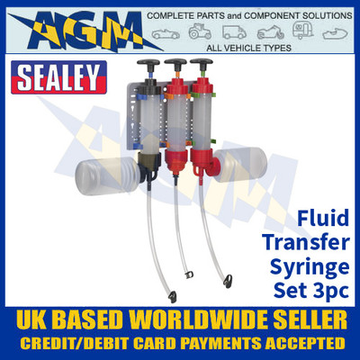 Sealey VS408 Fluid Transfer Syringe Set 3pc
