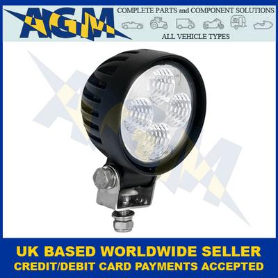 Led Autolamps 8312BM, Amber Output, Round Compact Flood Beam Work Lamp, 12/24V