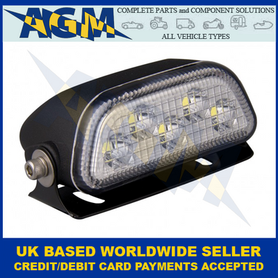 Led Autolamps 7150BM, Low Profile, Black Flood Light, 12/24v