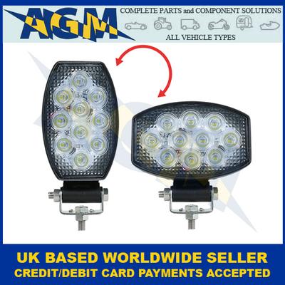 Led Autolamps 15030BMV, Horizontal Or Vertical, Oval Flood Lamp, 12/24v