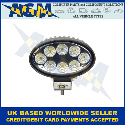 John Deere, Led Autolamps 8424BM, 24w High Power LED Work/Search Lamp, 12/24v