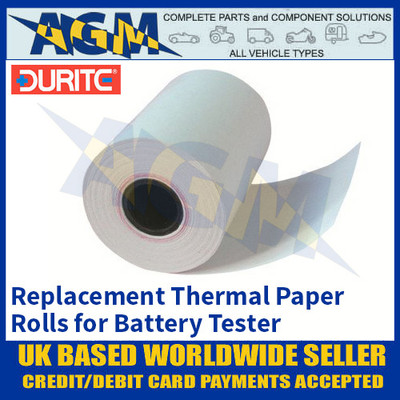 Durite 0-524-98 Battery Tester Replacement Thermal Paper Roll