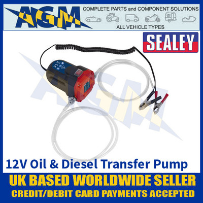 Sealey TP9312 Oil and Diesel Transfer Pump - 12 Volts