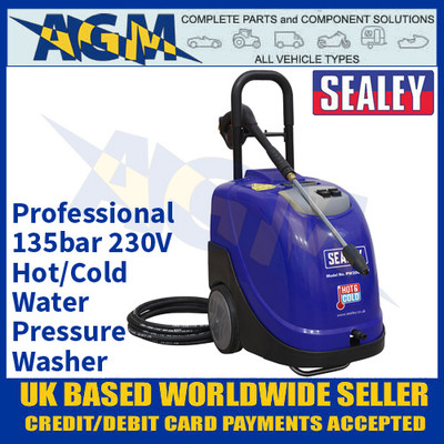 Sealey PW2000HW Professional Hot/Cold Water Pressure Washer 135bar 230V
