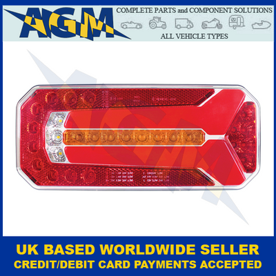 Guardian Automotive RL210, LED Combination Lamp with Incremental Indicator And Neon Effect, Side Light, 12/24v