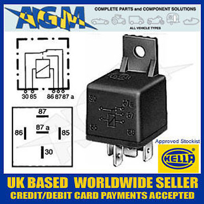 Hella  12V Change Over 20/30A 5 Terminal Relay