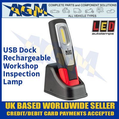 LED Autolamps HH190-1 USB Dock Rechargeable Workshop Inspection Lamp
