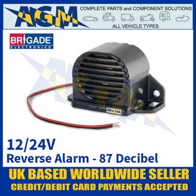 Brigade BBS-87 Reverse Alarm, 87 Decibel Output, 12/24 Volts