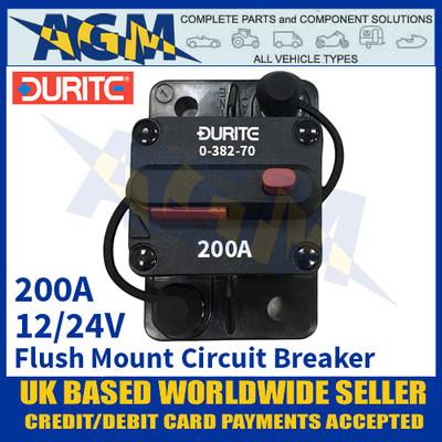 Durite 0-382-70 Flush Mount Circuit Breaker, 12/24v, 200A