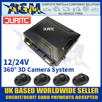 Durite 0-870-20 360° 3D Camera System (Without Monitor) 12/24V
