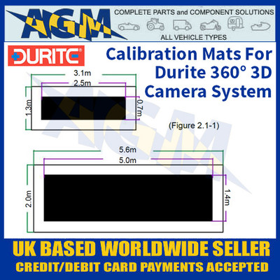 Durite 0-870-97 Calibration Mats For Durite 360° 3D Camera System