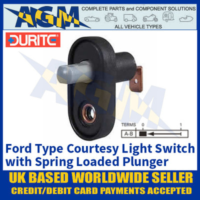 Durite 0-486-01 Ford Style Courtesy Light Switch with Spring Loaded Plunger