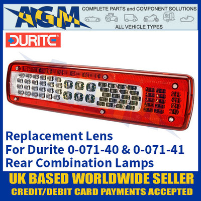 Durite 0-071-97 Replacement Lens for 0-071-40 & 0-071-41 Combination Lamps