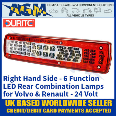 Durite 0-071-40 Right Hand LED Rear Combination Lamp, 6 Functions, 24V