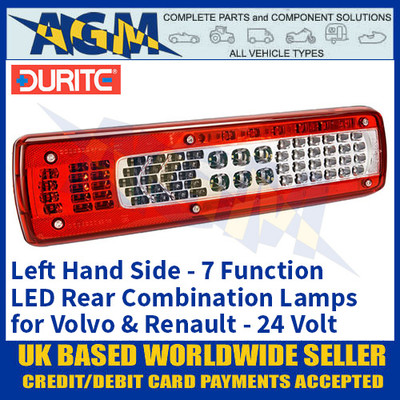 Durite 0-071-41 Left Hand LED Rear Combination Lamp, 7 Functions, 24V