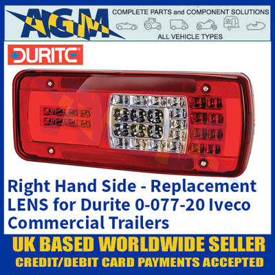 Durite 0-077-95 Replacement Lens for 0-077-20 Iveco Combination Lamp