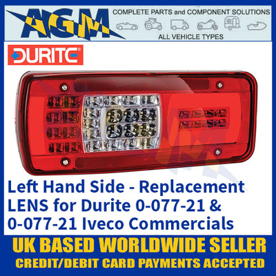 Durite 0-077-96 Replacement Lens for 0-077-21 & 0-077-22 Iveco Combination Lamps