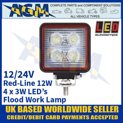 LED Autolamps RL7612BM LED Flood/Work Lamp 12W - 4 x 3W LED's
