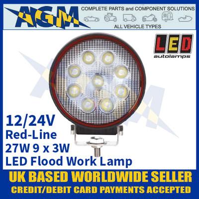 LED Autolamps RL10827BM LED Flood/Work Lamp 27W - 9 x 3W LED's