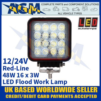 LED Autolamps RL11048BM LED Flood/Work Lamp 48W - 16 x 3W LED's