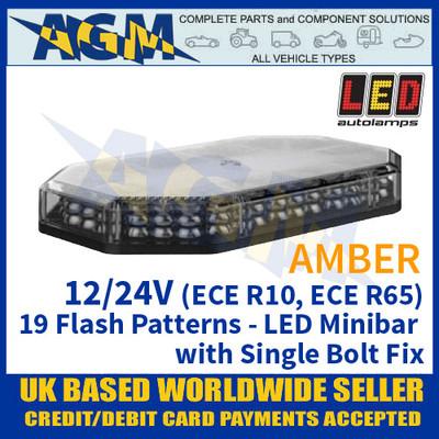 LED Autolamps EQPLB356R65AM Amber Minibar - 12/24V - 19 Flash Patterns