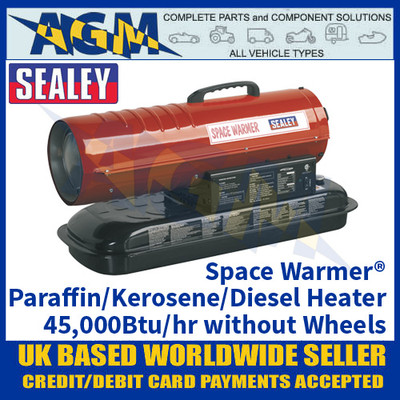 Sealey Space Warmer® Paraffin/Kerosene/Diesel Heater 45,000Btu/hr without Wheels