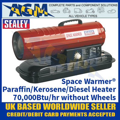 Sealey Space Warmer® Paraffin/Kerosene/Diesel Heater 70,000Btu/hr without Wheels