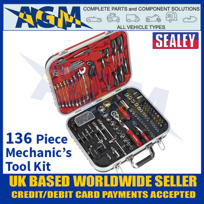 Sealey AK7980 Mechanic's Tool Kit 136 Pieces with Storage Case