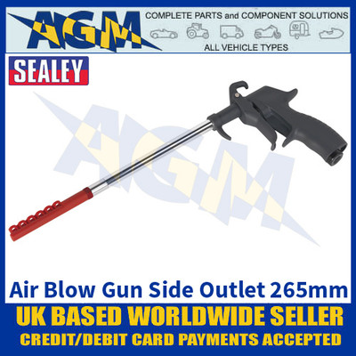Sealey SA9245 Air Blow Gun Side Outlet 265mm