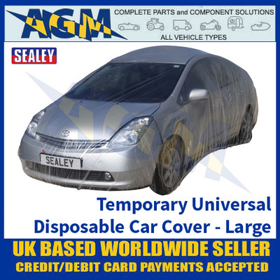 Sealey TDCCL Temporary Universal Disposable Car Cover Large