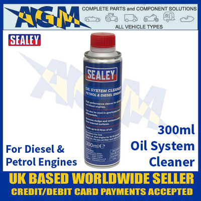 Sealey OSCL300 Oil System Cleaner 300ml - Petrol & Diesel Engines