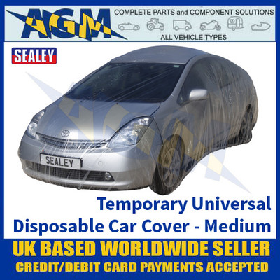 Sealey TDCCM Temporary Universal Disposable Car Cover Medium