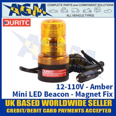Durite 0-445-76 12 to 110V Mini LED Amber Beacon - Magnetic Fix