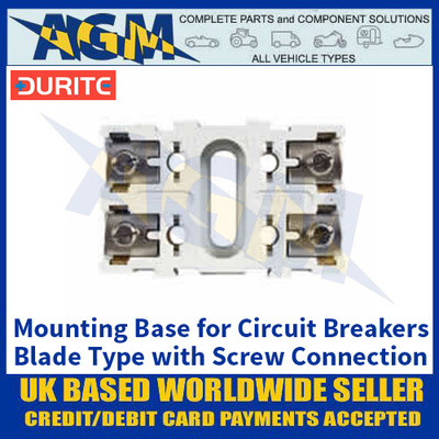 Durite 0-384-99 Mounting Base for Circuit Breakers, Blade Type with Screw Connection