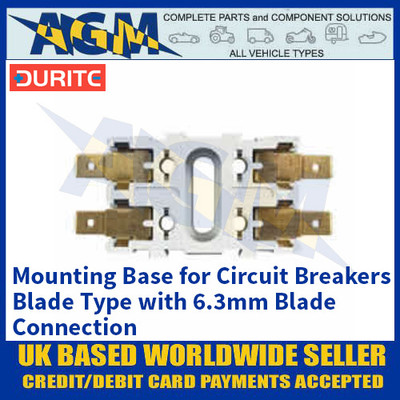 Durite 0-384-98 Mounting Base for Circuit Breakers, Blade Type with 6.3mm Blade Connection