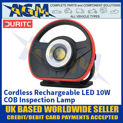 Durite 0-541-40 Cordless Rechargeable LED 10W COB Inspection Lamp