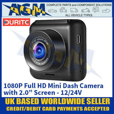 "Durite 0-775-45 1080P Full HD Mini Dash Camera with 2.0"" Screen - 12/24V"