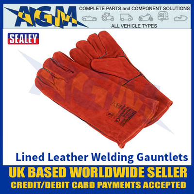 Sealey SSP141 Leather Welding Gauntlets Lined Pair
