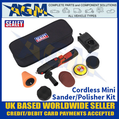 Sealey CP2812V Cordless Mini Sander/Polisher Kit Ø75mm 12V Lithium-ion